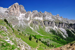 Dolomite peaks, Rosengarten Royalty Free Stock Photos