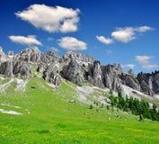 Dolomite peaks, Rosengarten Stock Images