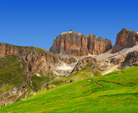 Dolomite peaks,Sella. Val di Fassa, Italy Alps Royalty Free Stock Images