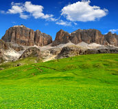 Dolomite peaks,Sella Royalty Free Stock Image