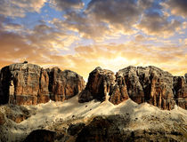 Dolomite peaks,Sella Royalty Free Stock Photography