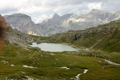 Dolomite`s landscape - Puez odle natural park Royalty Free Stock Photography