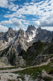 Dolomite scienic view. Summer in the alps Royalty Free Stock Image