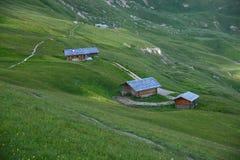Dolomite village in Italy Royalty Free Stock Photo