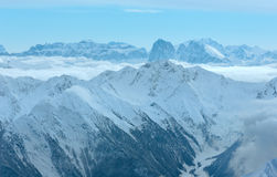 Dolomiten Alps winter view (Austria) Royalty Free Stock Images