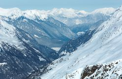 Dolomiten Alps winter view (Austria) Stock Photos