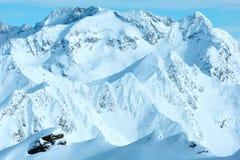 Dolomiten Alps winter view (Austria) Royalty Free Stock Photo