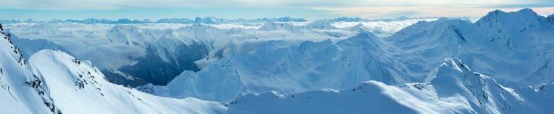Dolomiten Alps winter view (Austria). Panorama. Stock Photography