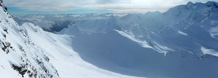 Dolomiten Alps winter view & x28;Austria& x29;. Panorama. Stock Photography