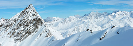 Dolomiten Alps winter view & x28;Austria& x29;. Panorama. Royalty Free Stock Photography