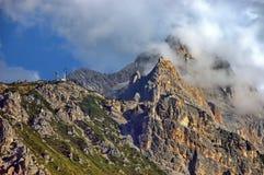 Dolomiten, de piek van de Alp Stock Afbeeldingen