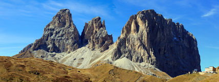 Dolomiten Panorama. Dolomites panorama at the Sellajoch in South Tirol Royalty Free Stock Photography
