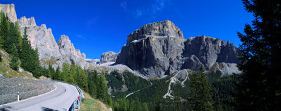 Dolomiten Panorama Royalty Free Stock Photo