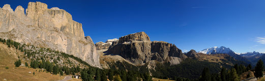 Dolomiten Panorama. Look at the mountaintops of the Dolomites Royalty Free Stock Image