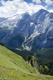 Dolomites. A view from the Dolomiti Alps Royalty Free Stock Photo