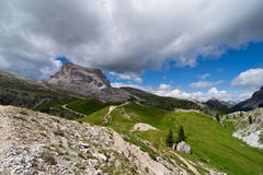 Dolomites. Landscape near peaks of the five towers Royalty Free Stock Photos