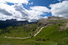 Dolomites. Landscape near peaks of the five towers Stock Photo