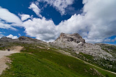 Dolomites. Landscape near peaks of the five towers Royalty Free Stock Photography