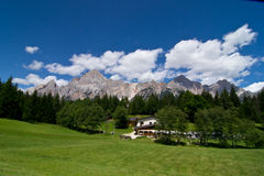 Dolomites. Antelao mountain in Dolomites of Italy Stock Images