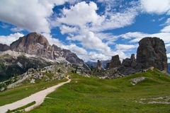 Dolomites. Peaks of the five towers Stock Image