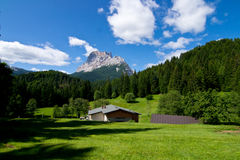 Dolomites. Pelmo Mountain from Alpe di Senes Royalty Free Stock Images
