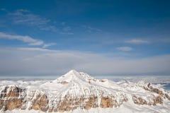 Dolomites aerial sky view landsacape panorama Stock Image