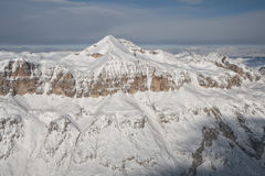 Dolomites aerial sky view landsacape panorama Stock Photography