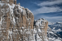 Dolomites aerial sky view Royalty Free Stock Photos
