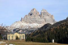 Dolomites alpine village Stock Photography