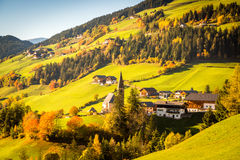 Dolomites Alps, Funes Valley Stock Images