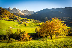 Dolomites Alps, Funes Valley Royalty Free Stock Photos