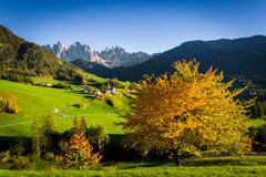 Dolomites Alps, Funes Valley Stock Image