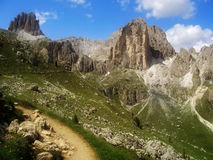 Dolomites Alps, Italy. The Dolomites  are a mountain range located in north-eastern Italy. A tourist mecca, the Dolomites are famous for skiing in the winter Stock Images