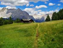 Dolomites Alps, Italy. The Dolomites  are a mountain range located in north-eastern Italy. A tourist mecca, the Dolomites are famous for skiing in the winter Royalty Free Stock Photos