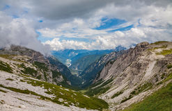 Dolomites Alps in Italy. Beautiful view of the mountains. Royalty Free Stock Image