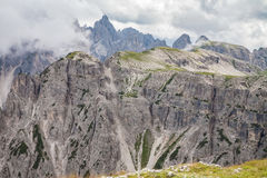 Dolomites Alps in Italy. Beautiful view of the mountains. Royalty Free Stock Images