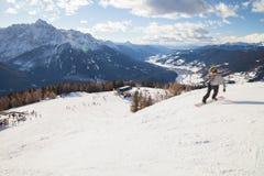 Monte Elmo, Dolomites, Italy - Mountain skiing and snowboarding. Sexten (Sesto), Trentino-Alto Adige, Alta Pusteria. Dolomites Alps, Italy - Mountain stock photos