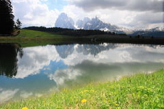 Dolomites Alps and lake, Italy Stock Photography