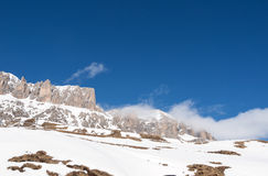 Dolomites Alps - overlooking the Sella group  in Val Gardena. Stock Image