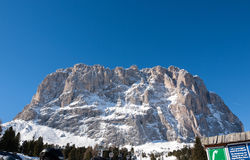 Dolomites Alps - overlooking the Sella group  in Val Gardena. Royalty Free Stock Image