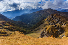 Dolomites autumn in Passo Giau Royalty Free Stock Photo