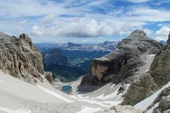 Dolomites beautiful panorama view Royalty Free Stock Image