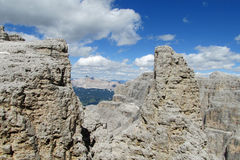 Dolomites beautiful rocks Stock Images