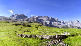 Dolomites of Brenta mountain range. Royalty Free Stock Photos