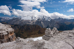 Dolomites Cairn Royalty Free Stock Photos