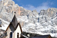 Dolomites and church Royalty Free Stock Images