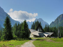 Dolomites Church, Val Visdende, Italy, July 2009 Royalty Free Stock Images