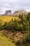 Dolomites, cima del passo. Falzarego Stock Image