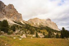 Dolomites, cima del passo. Falzarego Royalty Free Stock Images