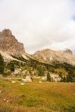 Dolomites, cima del passo. Falzarego Royalty Free Stock Image